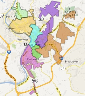 map of morgantown wv
